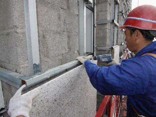 干挂石材保温施工