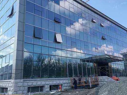 玻璃幕墙施工